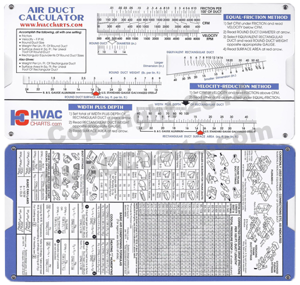 HVAC Charts - Duct Sizing Calculator